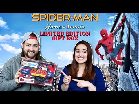 Walmart Exclusive Spiderman Homecoming Gift Box Unboxing