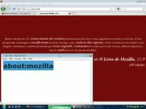 Mensagem subliminar Mozilla Firefox