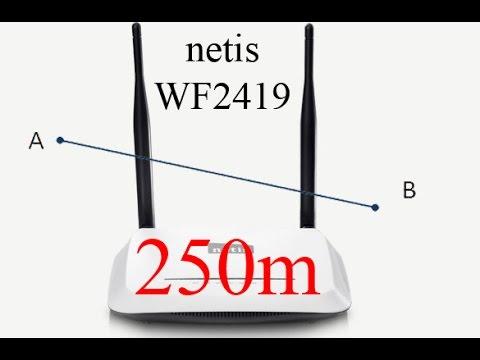 Роутер Netis WF2419 тест на покрытие.