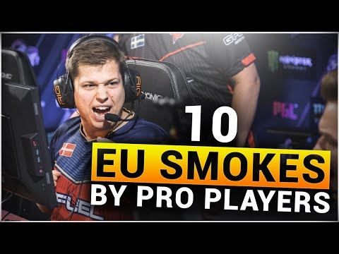 TOP 10 EU SMOKES by PRO CS:GO PLAYERS #2