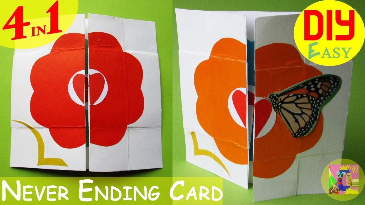 Как сделать движущуюся открытку из бумаги