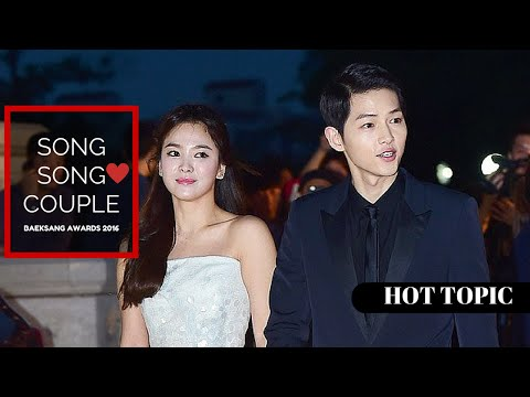 Song Joong Ki & Song Hye Kyo ~ Song Song Couple CUTE at The 52nd Baeksang Awards | HOT TOPIC