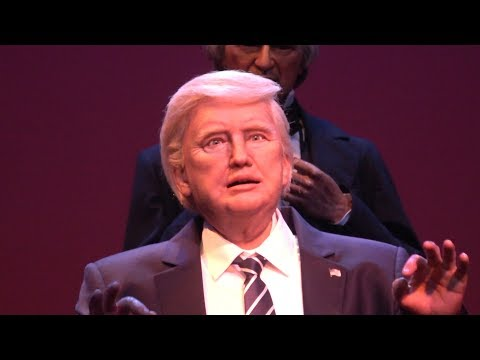 At Walt Disney's Magic Kingdom To See The Trump Animatronic In The Hall Of Presidents & More!