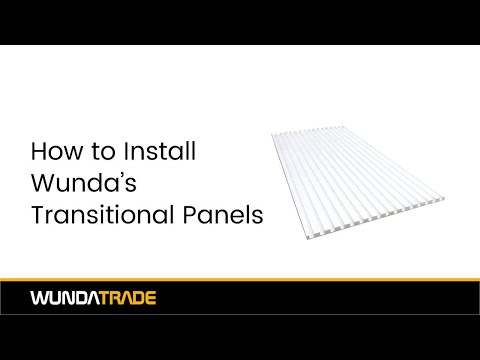 How to install our transition panels