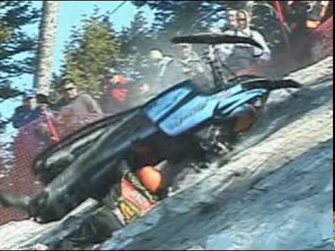 Jackson Hole World Championship Hillclimb is the most extreme snowmobile hillclimb race on Earth. Great riding and unbelievable sled carnage in this action p...