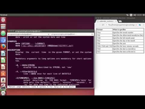 Linux Command Line Tutorial For Beginners 32   date command