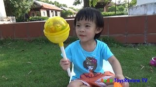 Giant candy surprise eggs Unboxing ❤ AnAn ToysReview TV ❤