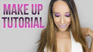PURPLE SMOKEY EYES-NUDE\PINK LIPS|FULL FACE TUTORIAL|BEAUTISSIMI