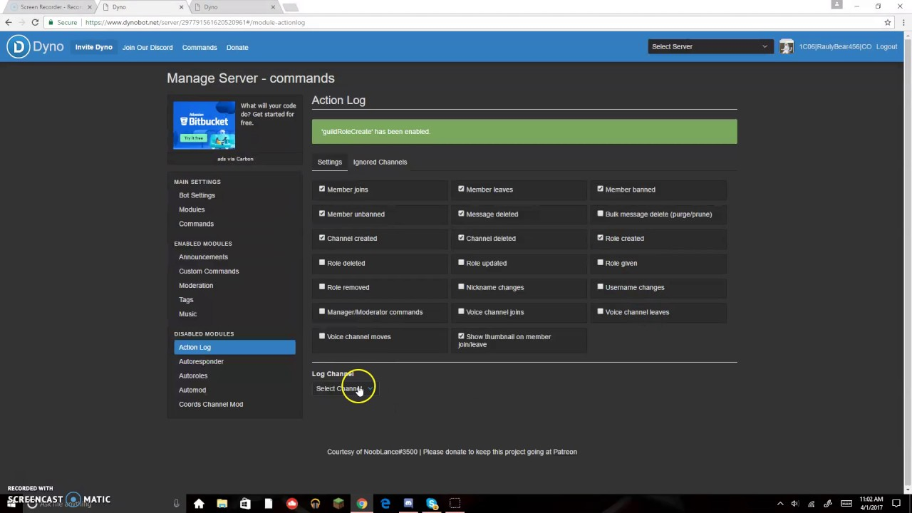 How to add logs to your server in discord - YouTube