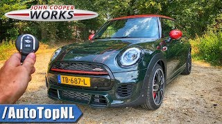 2019 MINI JCW REVIEW POV Test Drive on AUTOBAHN & ROAD by AutoTopNL