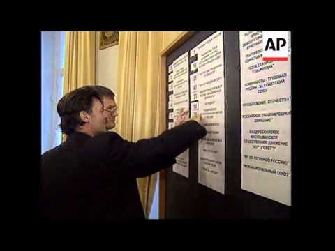 RUSSIA: POLITICAL PARTIE'S FINAL PREPARATIONS FOR ELECTIONS