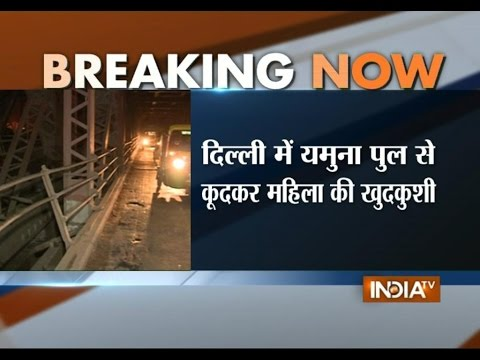 Woman commits suicide by jumping into Yamuna river in Delhi