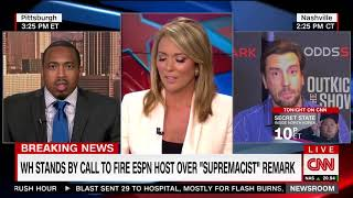 Clay Travis stuns CNN host when he says he believes in two things: the First Amendment and Boobs