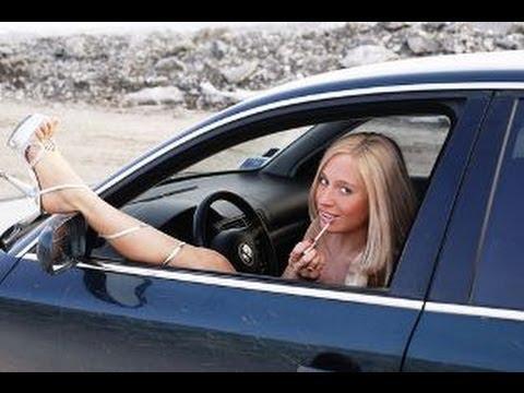 Пьяная блондинка за рулём! Страшный суд