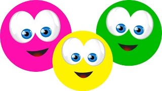 Learn Colors with happy faces, Teach Colours, Baby Toddler Preschool