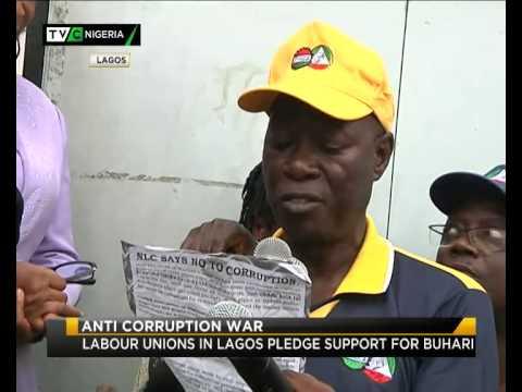 LABOUR UNIONS IN LAGOS PLEDGE SUPPORT FOR BUHARI