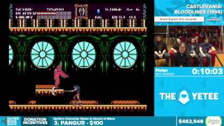 Castlevania: Bloodlines by Klaige in 31:51 - Awesome Games Done Quick 2016 - Part 108