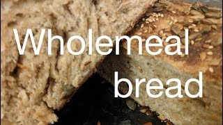 Wholemeal bread with honey, olive oil and seeds