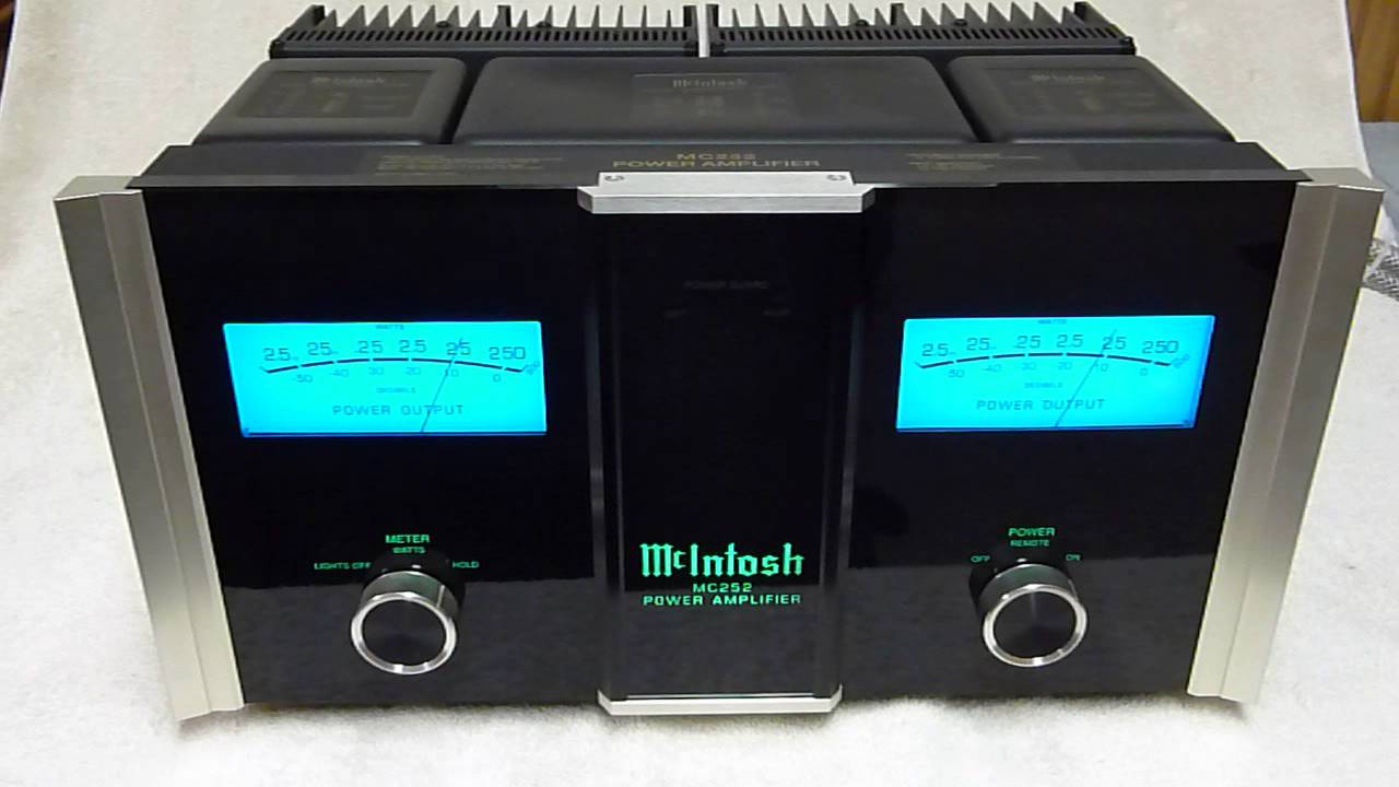 Mcintosh Mc 252 In Action Youtube
