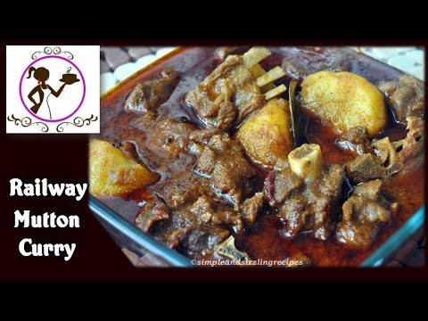 Railway Mutton Curry Recipe | Authentic Spicy Mutton Curry | Bengali Mangsher Jhol Recipe