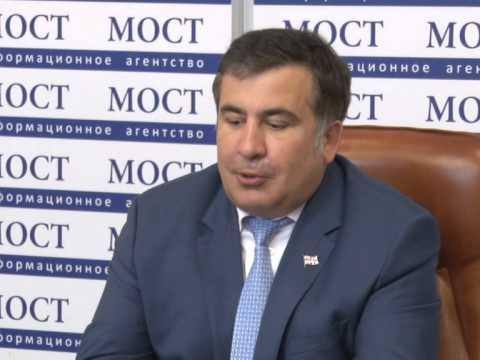 В Днепропетровске Саакашвили назвал коррупцию и преступность союзниками Путина