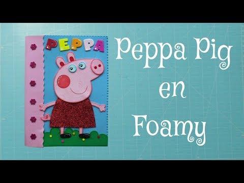 Peppa Pig en Foami, Goma Eva, Microporoso