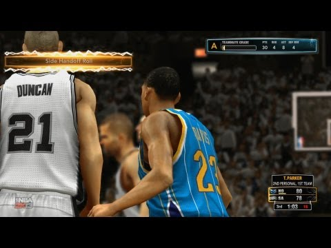 NBA 2K13 My Career Playoffs QFG3 - Tony Parker Drops 40 Points