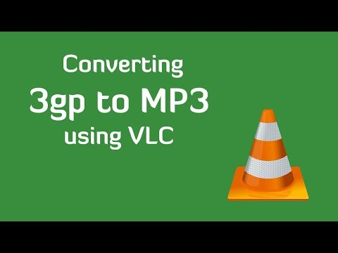 Convert 3GP to MP3 using VLC