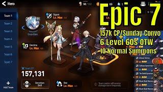 Epic Seven 157k CP/Sunday Convo/Account Progress 6 60s OTW/Summons/Challenger PVP
