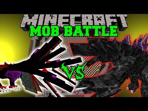 THE QUEEN VS MOBZILLA, GODZILLA, & BURNING GODZILLA - Minecraft Mob Battles - Mods
