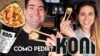 Como pedir no KONI. A maior loja de comida JAPONESA do Brasil