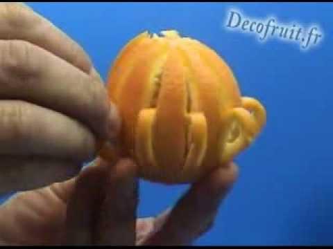 Décoration d'une orange