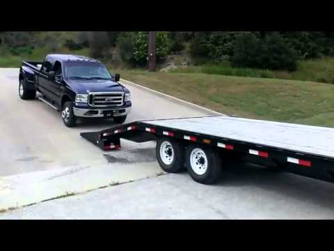 How NOT to Load a New Ford F-350 Truck on a Trailer