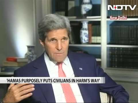 Don't know that Israel bombed a school: John Kerry to NDTV