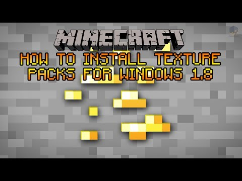 How to install Texture packs/ Resource packs in minecraft 1.8 (Windows 8)