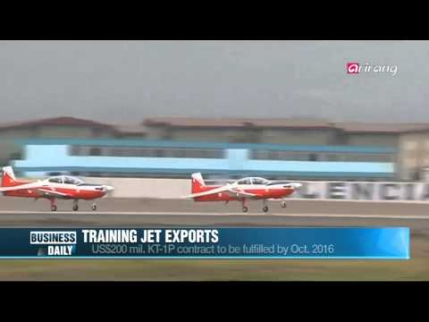 Business Daily-Korean fighter jets to South America   한국 훈련기의 남미 진출