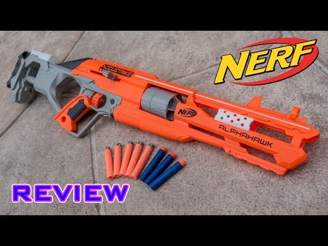 [REVIEW] Nerf Elite Accustrike Alphahawk Unboxing, Review, & Firing Test