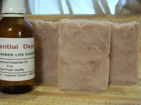 How to Make Lye Soap, Essential Oil Cedarwood and Tea Tree Blend