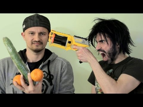 Nerf Guns VS Vegetarians