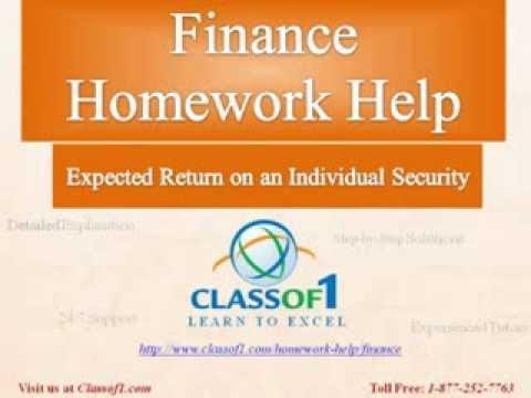 Homework help finance