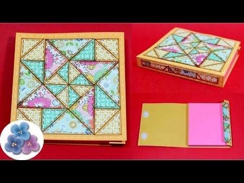 DIY Manualidades para Decorar con papel Cuadernos *Paper Quilting* Scrapbook Pat