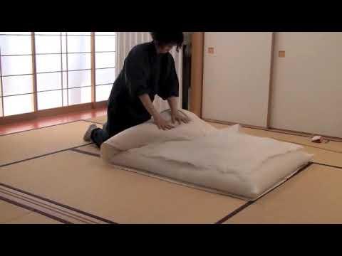 Ɖ�作り木綿布団の作成画像 Handmade Japanese Made Futon Youtube