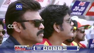 CCL6 Final Match - Telugu Warriors vs Bhojpuri Dabanggs || 1st Innings Part 1/3