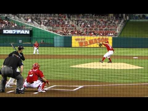 HD: Stephen Strasburg strikes out Giancarlo Stanton on 99MPH Heater! 9-17-2011 Washington Nats