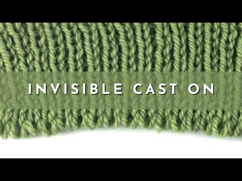 Adding Cast On Stitches In Knitting : How to Knit the Invisible Cast On - YouTube