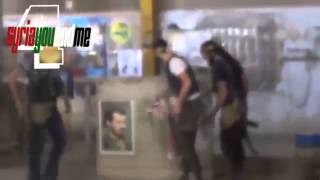 Islam Brigade storm and freed factory and destroyed Pictures of Assad