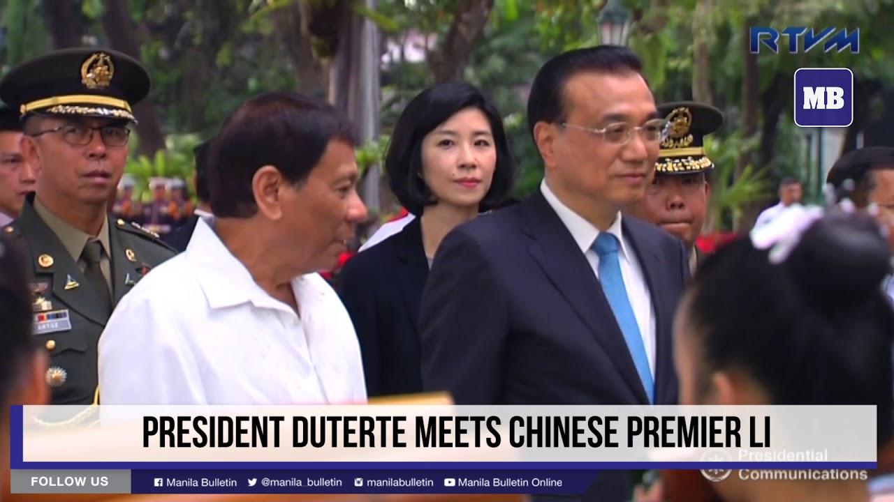 President Duterte meets Chinese Premier Li