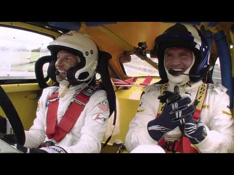 2015 Russia - Pre-Race: Jenson Button takes on David Coulthard at Rallycross