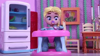 SUPERHERO BABY, SO CUTE! Play Doh Stop Motion and Cartoons For Kids 💕 Superhero Babies