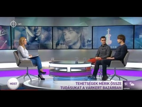 Alexander Rybak, Zoltán Sándor - Interview on M1 27.02.2016.02. Hungary